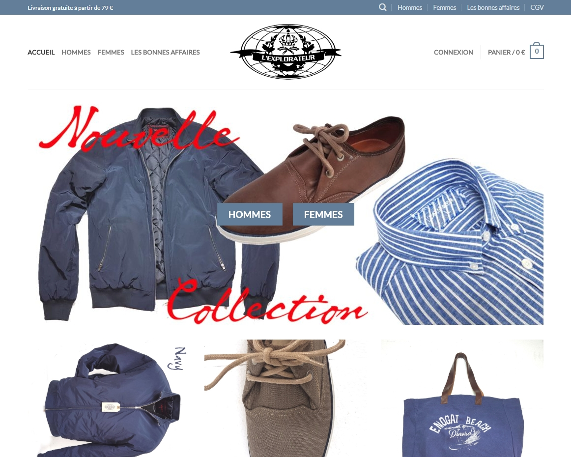 Boutique L'Explorateur - Vêtements hommes